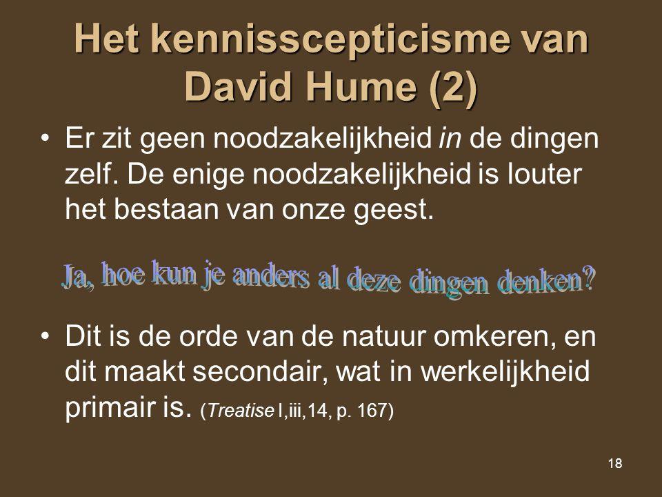 Het kennisscepticisme van David Hume (2)