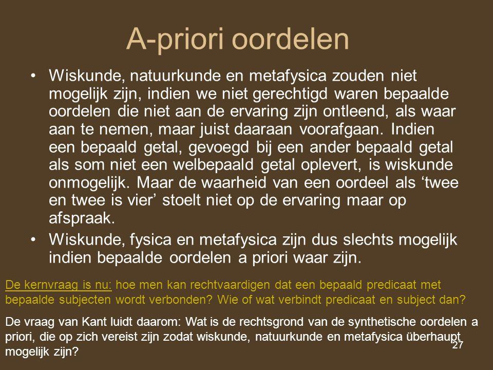 A-priori oordelen