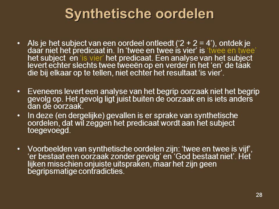 Synthetische oordelen