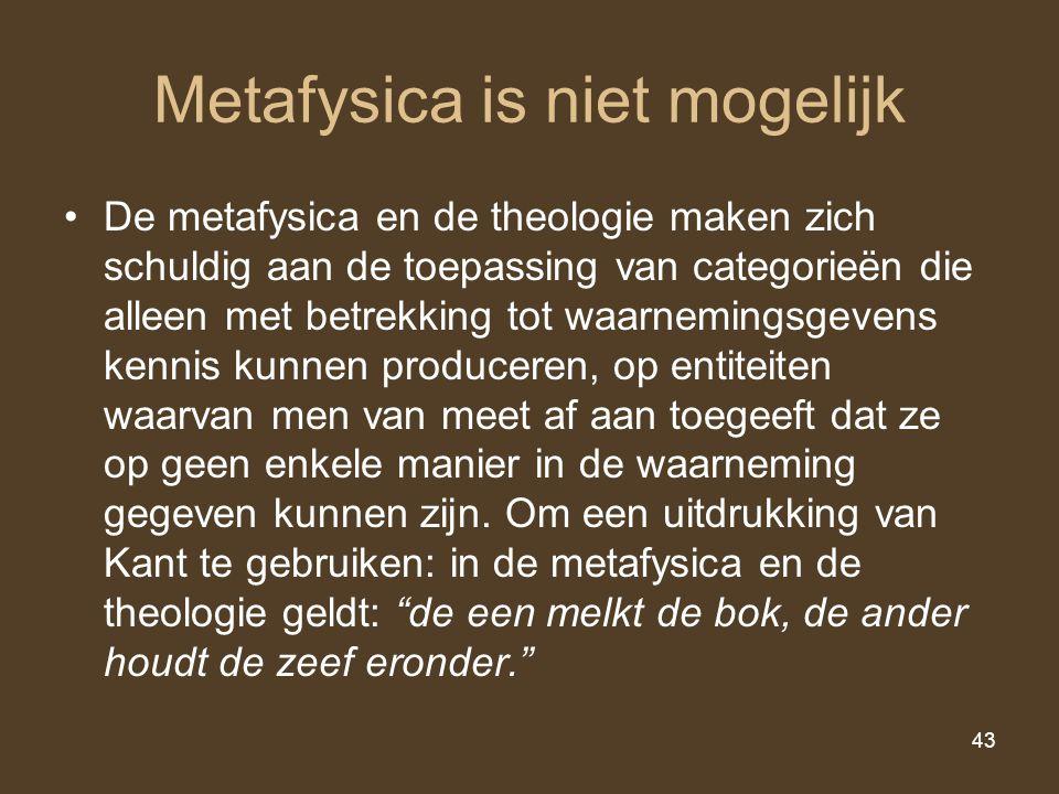 Metafysica is niet mogelijk