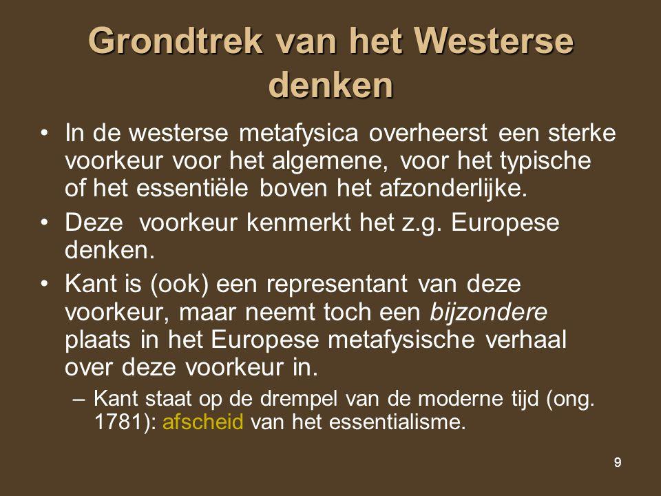 Grondtrek van het Westerse denken