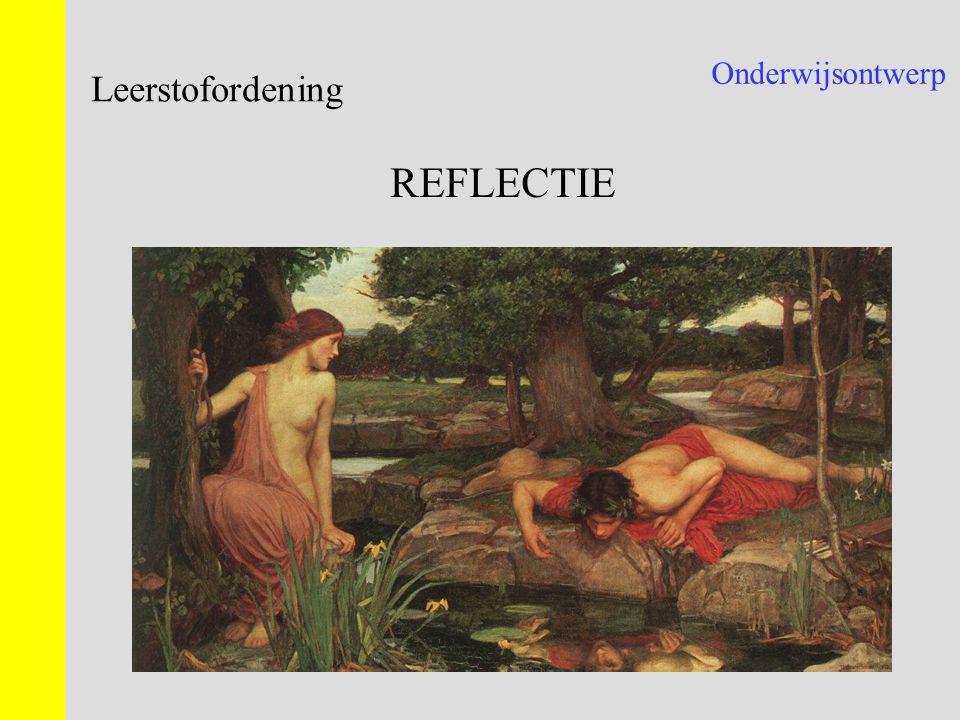Onderwijsontwerp Leerstofordening REFLECTIE