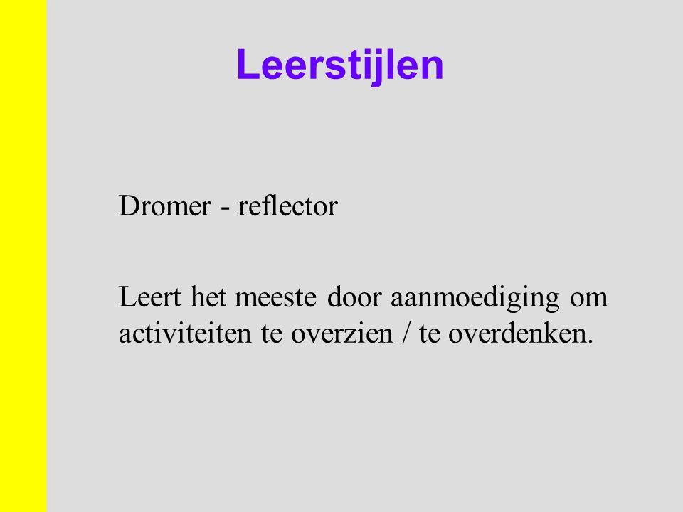 Leerstijlen Dromer - reflector