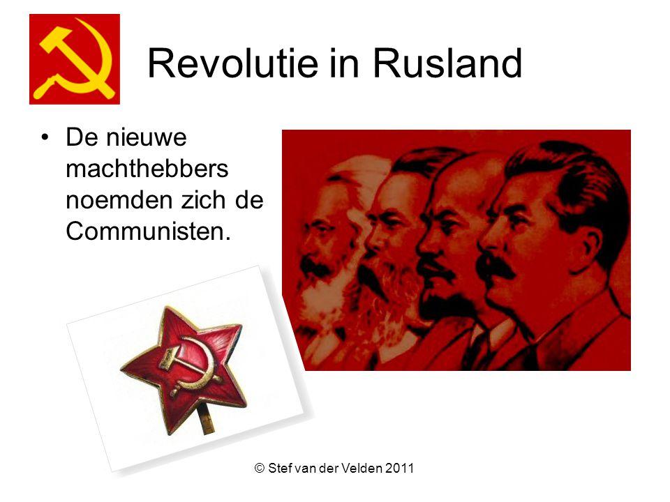 Revolutie in Rusland De nieuwe machthebbers noemden zich de Communisten. © Stef van der Velden 2011