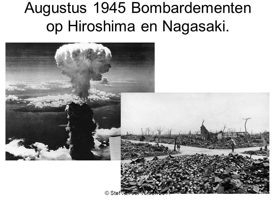 Augustus 1945 Bombardementen op Hiroshima en Nagasaki.