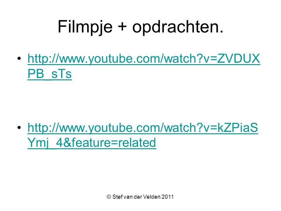 Filmpje + opdrachten. http://www.youtube.com/watch v=ZVDUXPB_sTs