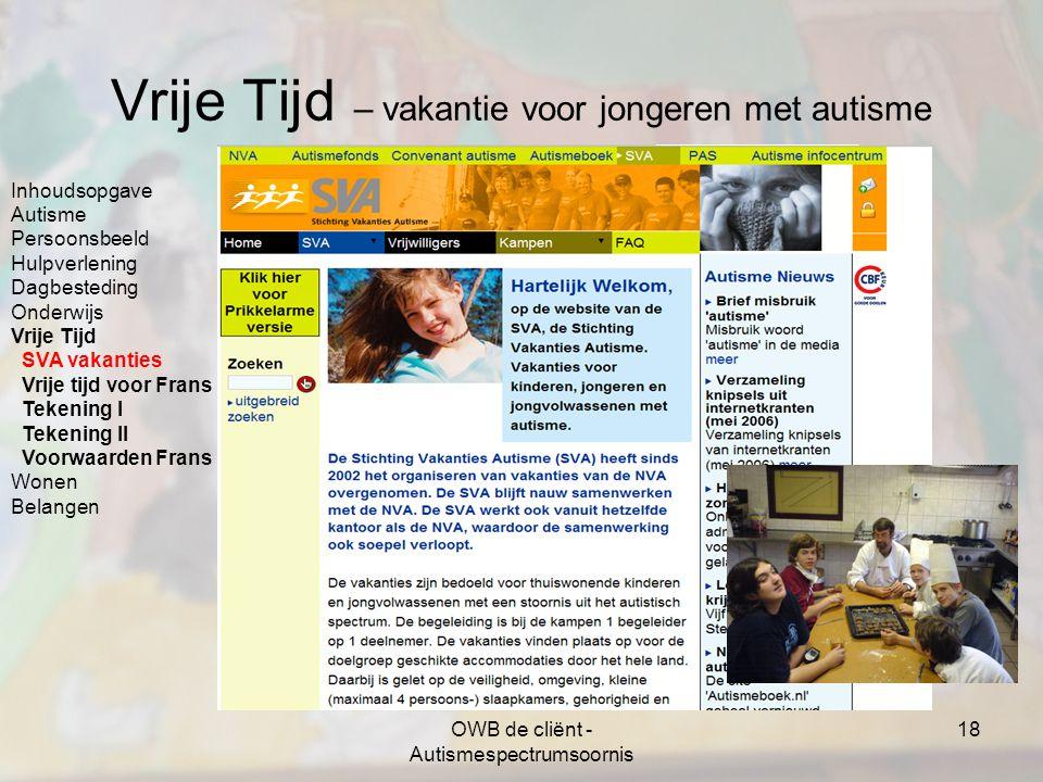 Vrije Tijd – vakantie voor jongeren met autisme