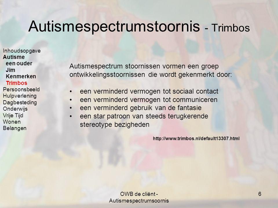Autismespectrumstoornis - Trimbos
