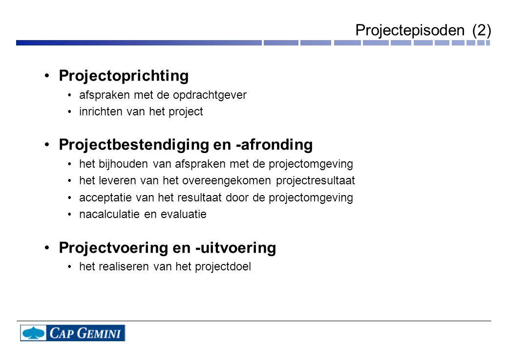 Projectbestendiging en -afronding