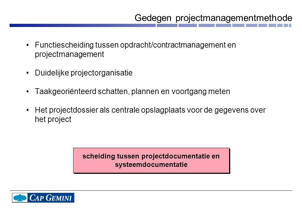 Gedegen projectmanagementmethode