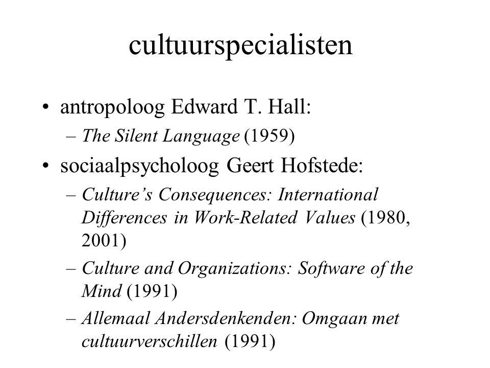 cultuurspecialisten antropoloog Edward T. Hall:
