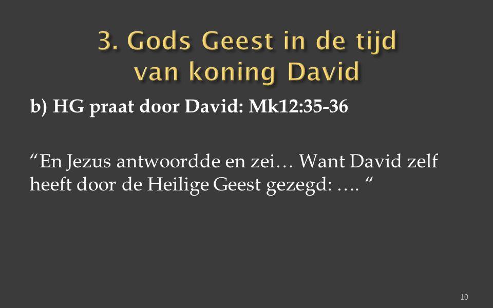 3. Gods Geest in de tijd van koning David