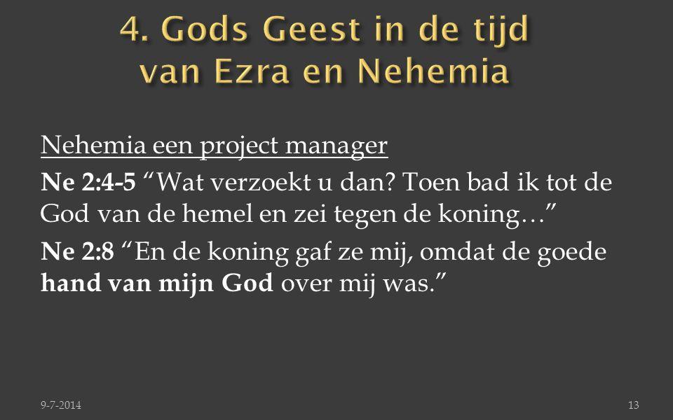 4. Gods Geest in de tijd van Ezra en Nehemia