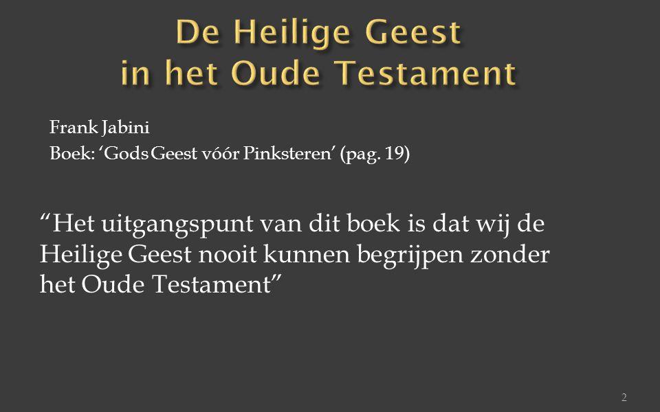 De Heilige Geest in het Oude Testament
