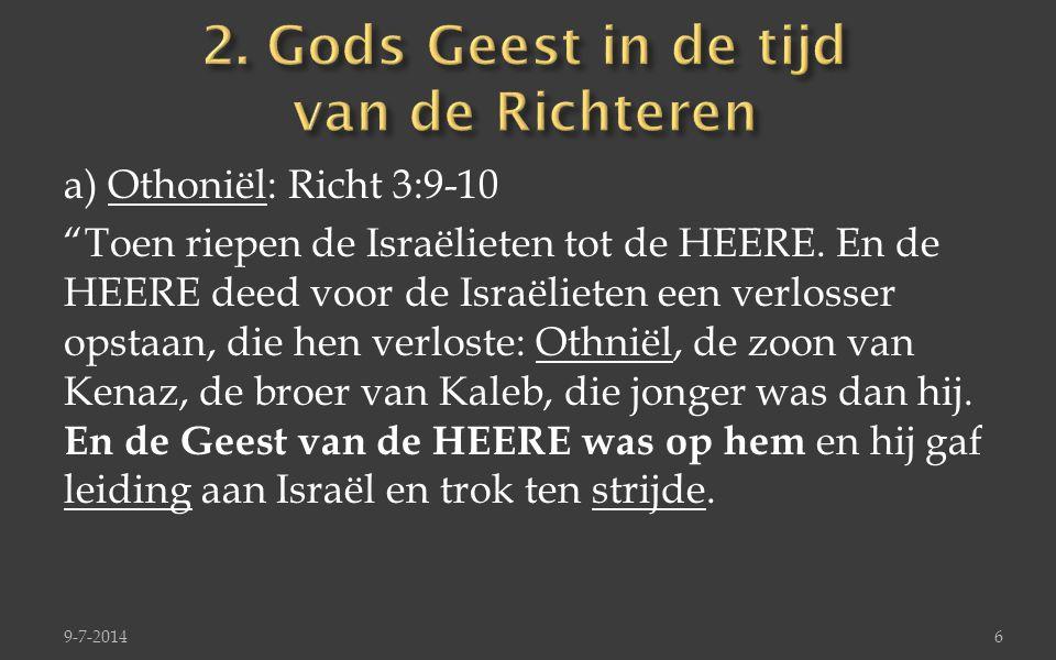 2. Gods Geest in de tijd van de Richteren
