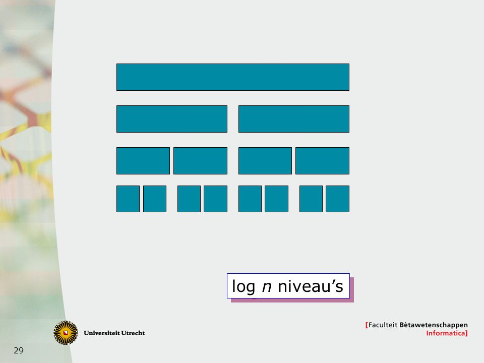 log n niveau's