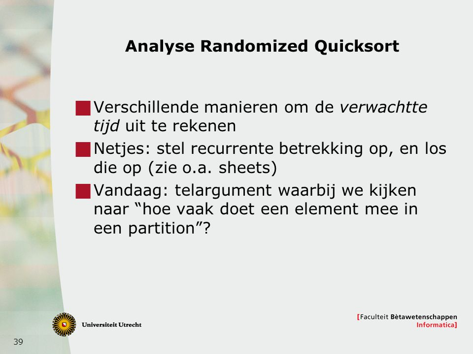 Analyse Randomized Quicksort