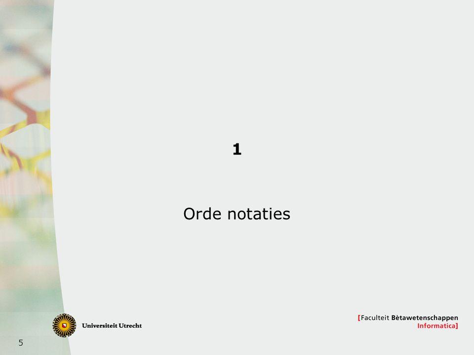 1 Orde notaties