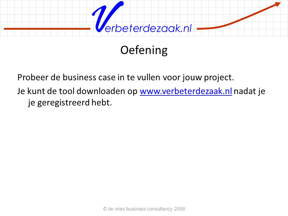 © de vries business consultancy, 2008