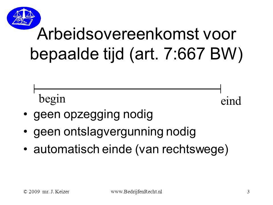 Arbeidsovereenkomst voor bepaalde tijd (art. 7:667 BW)