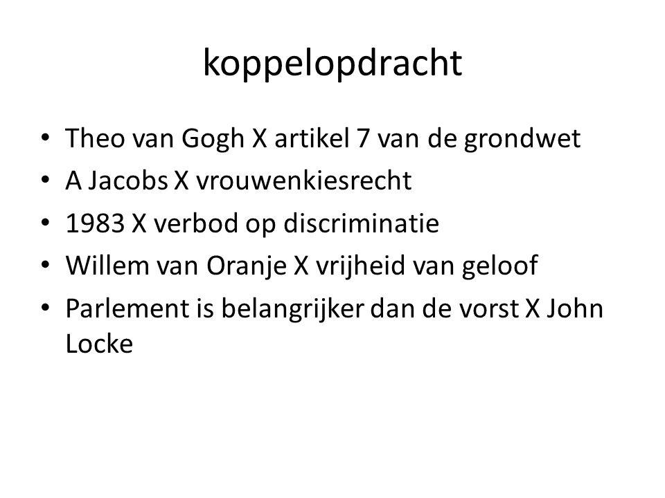 koppelopdracht Theo van Gogh X artikel 7 van de grondwet