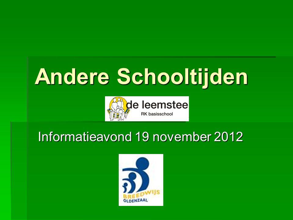 Informatieavond 19 november 2012
