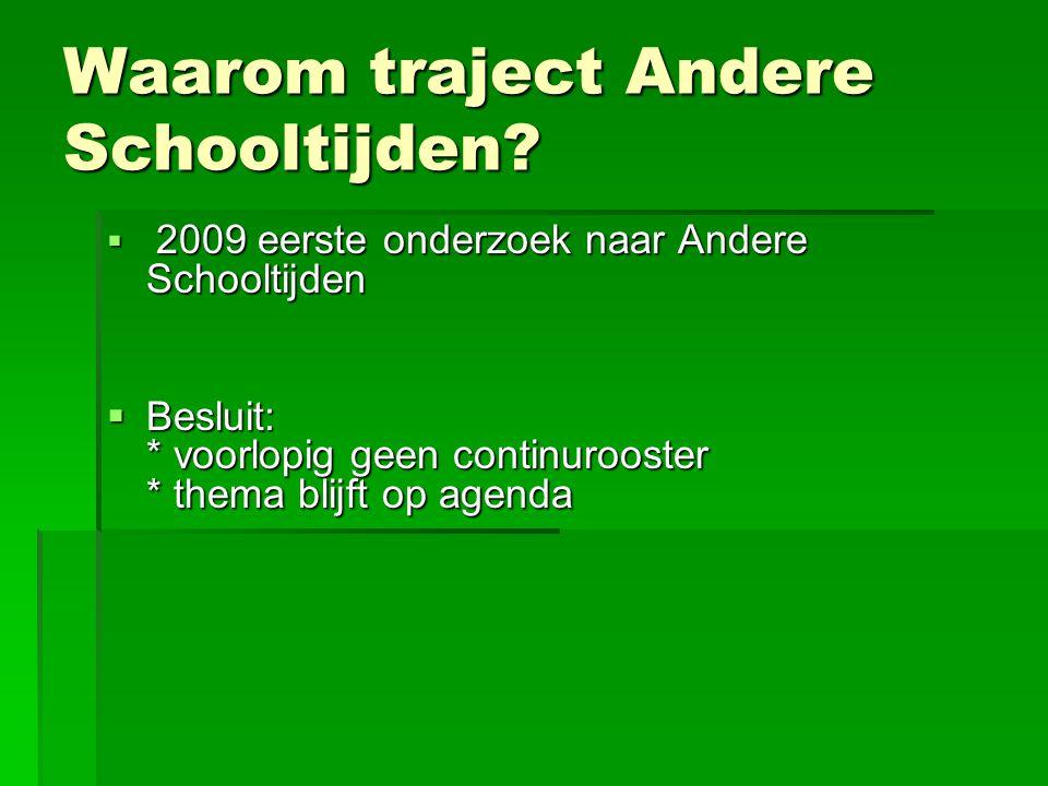 Waarom traject Andere Schooltijden