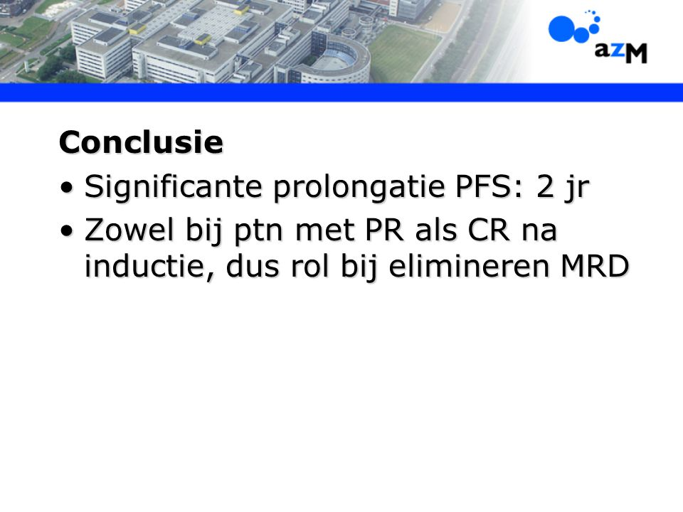 Significante prolongatie PFS: 2 jr