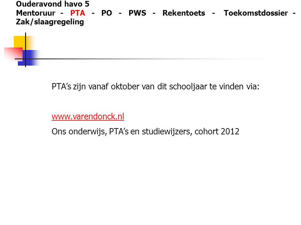 PTA's zijn vanaf oktober van dit schooljaar te vinden via: