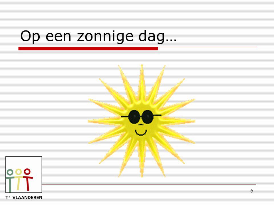 Op een zonnige dag…