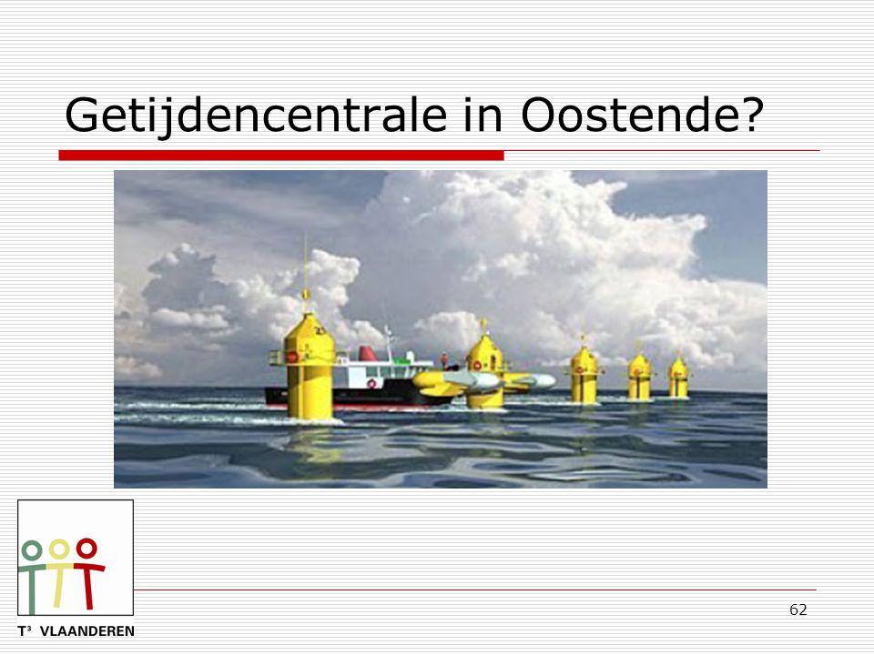 Getijdencentrale in Oostende