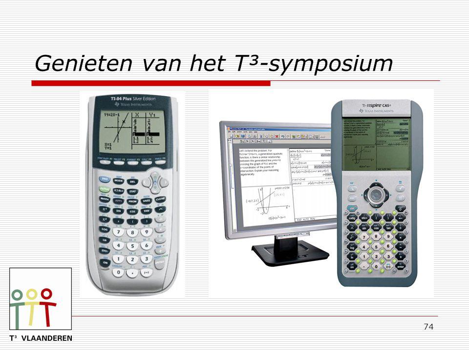 Genieten van het T³-symposium