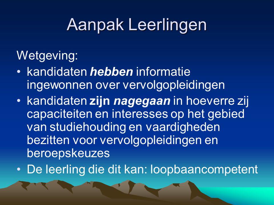 Aanpak Leerlingen Wetgeving: