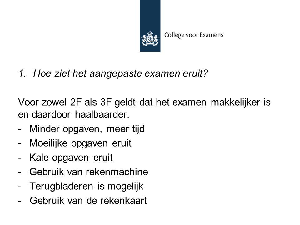 Hoe ziet het aangepaste examen eruit