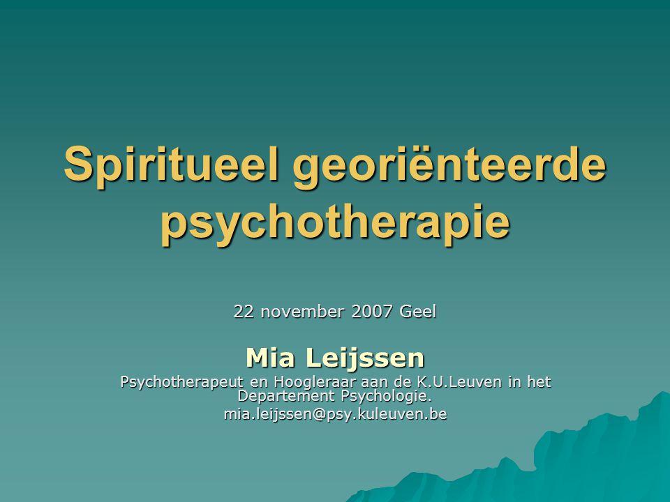 Spiritueel georiënteerde psychotherapie