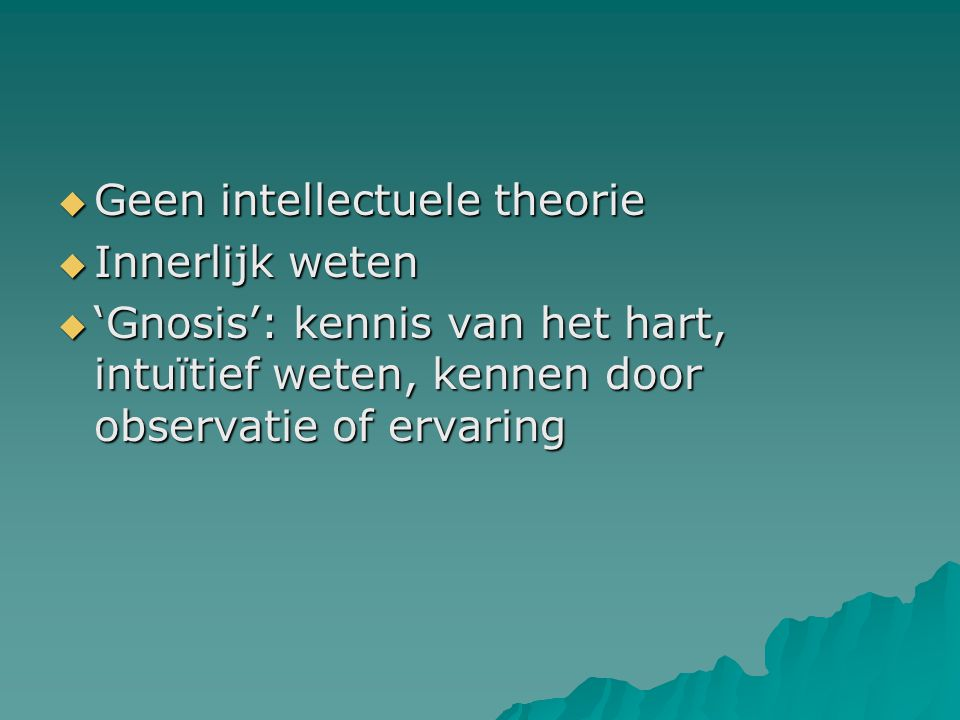 Geen intellectuele theorie