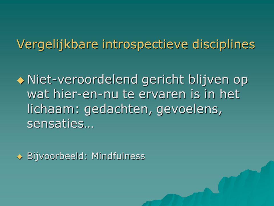 Vergelijkbare introspectieve disciplines