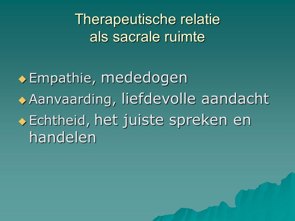 Therapeutische relatie als sacrale ruimte