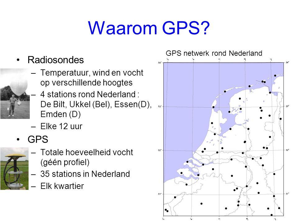 Waarom GPS Radiosondes GPS
