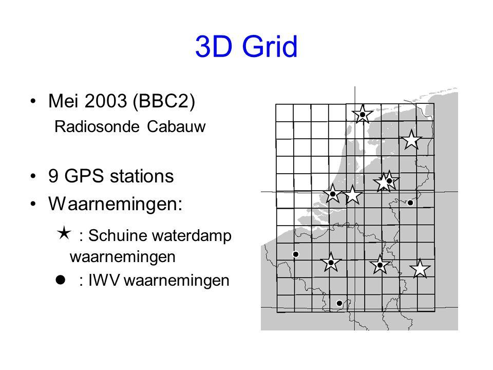 3D Grid  : Schuine waterdamp waarnemingen Mei 2003 (BBC2)