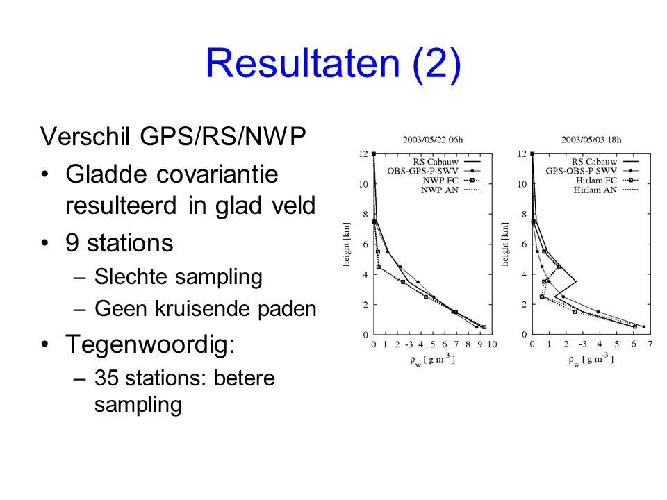 Resultaten (2) Verschil GPS/RS/NWP