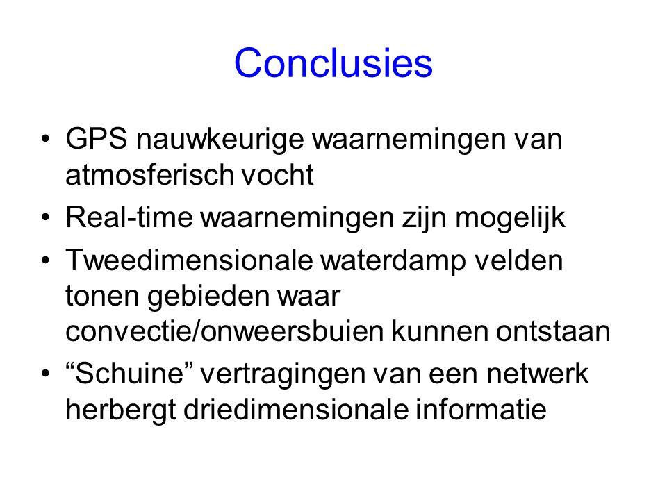 Conclusies GPS nauwkeurige waarnemingen van atmosferisch vocht