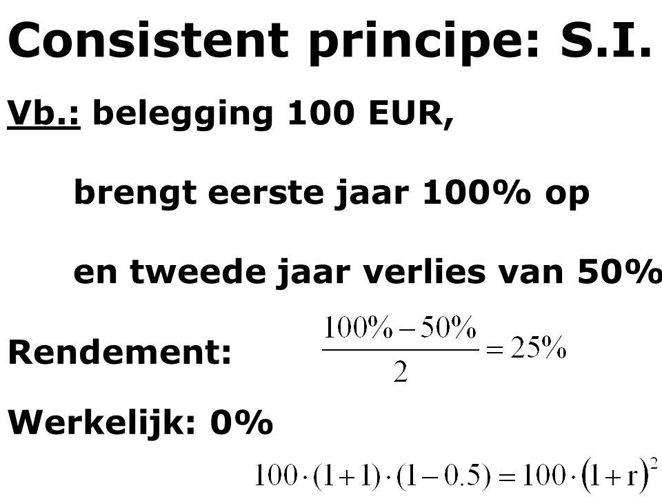 Consistent principe: S.I.