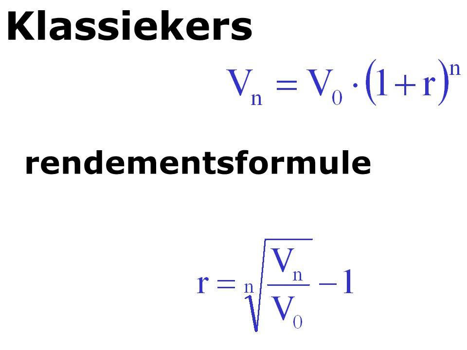 Klassiekers rendementsformule
