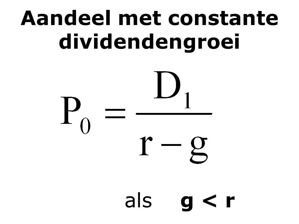 Aandeel met constante dividendengroei