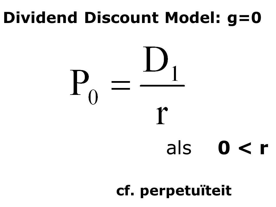 Dividend Discount Model: g=0