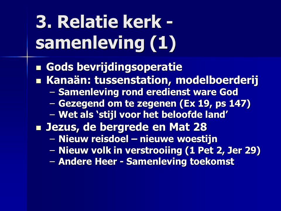 3. Relatie kerk - samenleving (1)