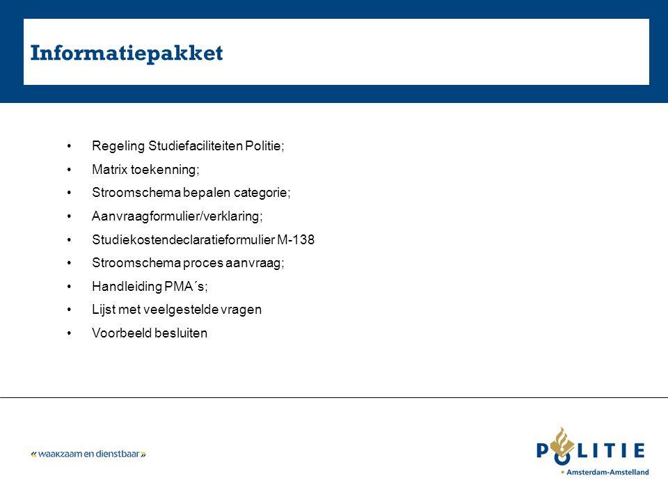 Informatiepakket Regeling Studiefaciliteiten Politie;