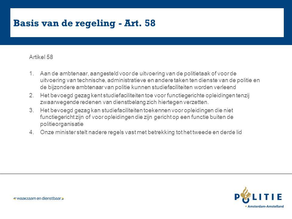Basis van de regeling - Art. 58