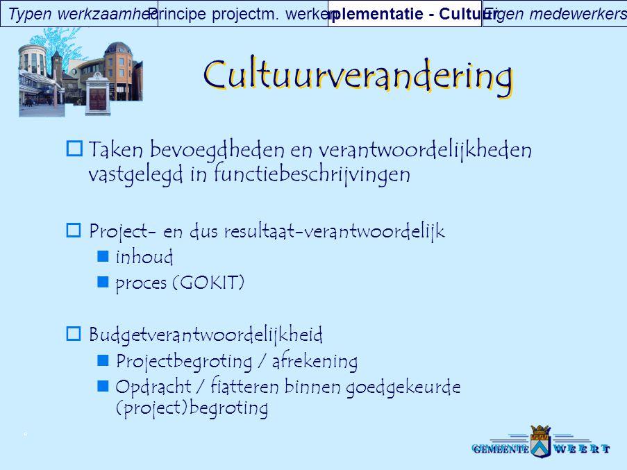 Implementatie - Cultuur